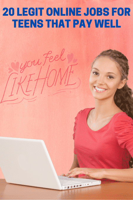20 Easy Online Jobs For Teens That Pay Well 13 16 Year Old