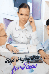 high paying jobs for teens